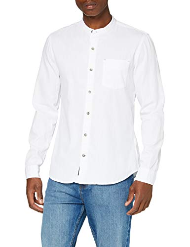 Mavi Herren Shirt Hemd, White Denim, XL von Mavi
