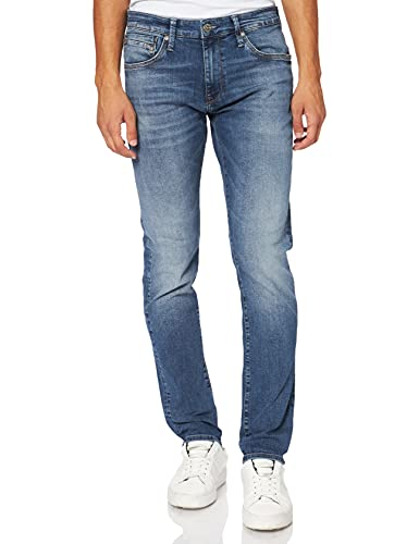 Mavi Herren Skinny Jeans James, Blau (Mid Brushed Ultra Move 23429), W30/L32 von Mavi