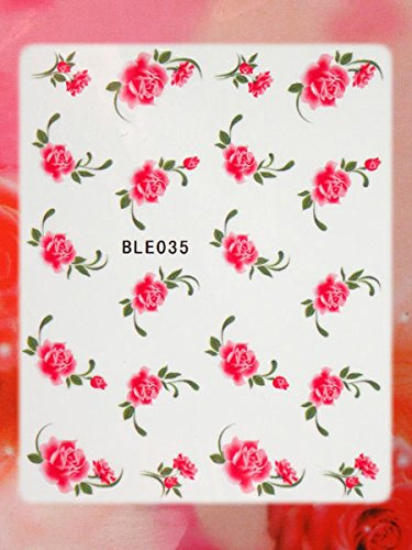 Nail Art STICKER Blumen Motiv Malerei Design #BLE035 von Melano Nails