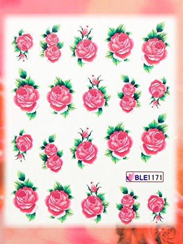 Nail Art STICKER Blumen Motiv Malerei Design # BLE1171 von Melano Nails