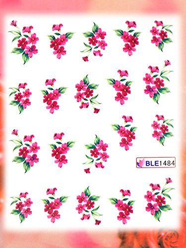 Nail Art STICKER Blumen Motiv Malerei Design # BLE1484 von Melano Nails