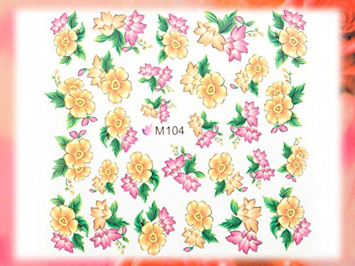 Nail Art STICKER Blumen Motiv Malerei Design # M104 von Melano Nails