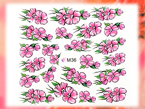 Nail Art STICKER Blumen Motiv Malerei Design # M36 von Melano Nails