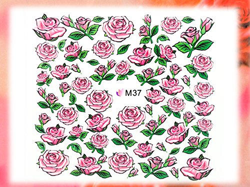 Nail Art STICKER Blumen Motiv Malerei Design # M37 von Melano Nails