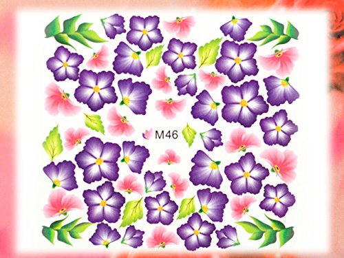 Nail Art STICKER Blumen Motiv Malerei Design # M46 von Melano Nails