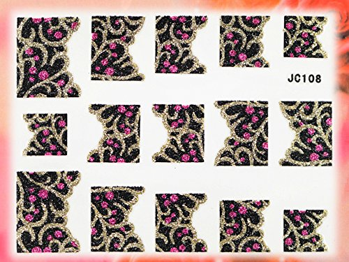 Nail Art STICKER French Art Motiv Malerei Design JC108 von Melano Nails
