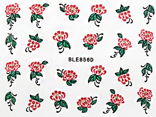 Nail Art STICKER Blumen Motiv Malerei Design BLE867D von Melano Nails