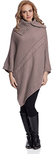 Merry Style Damen Poncho 2V3T1(Kakao, One size) von Merry Style