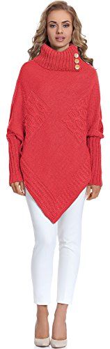 Merry Style Damen Poncho M83N4 (Coral, One size) von Merry Style