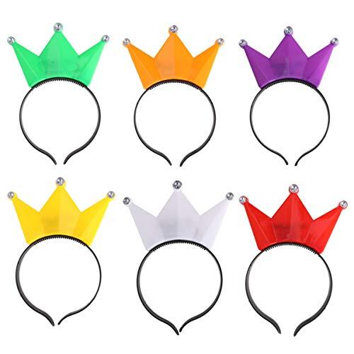 10 Stücke LED Stirnbänder Blumen Kronen Set Zufällige Farbe Blinkende Kranz