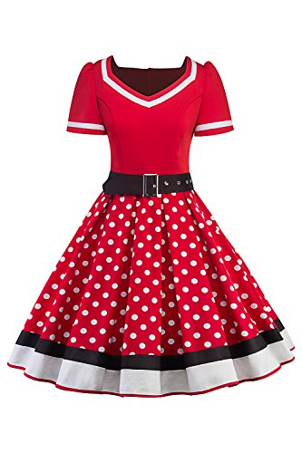 Für Petticoat Misshow In Kleider Von Rot Damen DHE29I