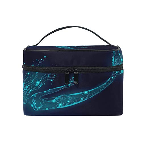 Makeup Bag, Mermaid Cosmetic Toiletry Storage Organiser Case Large Travel Handle Pouch Best Gift for Teenage Girl Women Lady von Mnsruu