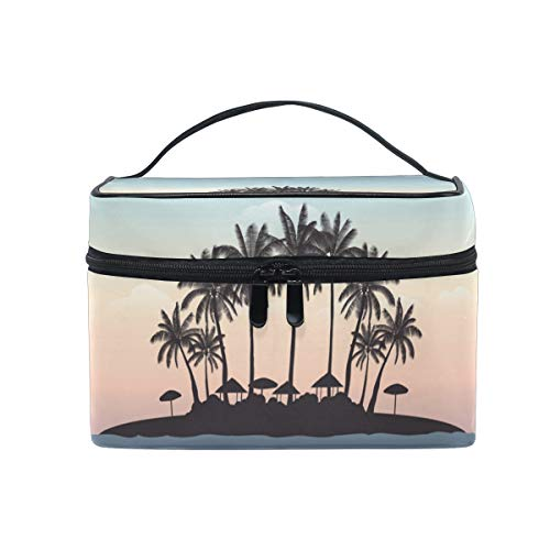 Makeup Bag, Palm Tree Cosmetic Toiletry Storage Organiser Case Large Travel Handle Pouch Best Gift for Teenage Girl Women Lady von Mnsruu