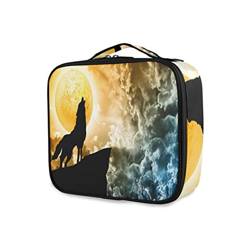 Mnsruu Galaxy Nebula Cloud Wolke Make-up Kosmetikkoffer Organizer Tragbare Aufbewahrungstasche Reise Make-up Train Case mit verstellbaren Trennwänden von Mnsruu