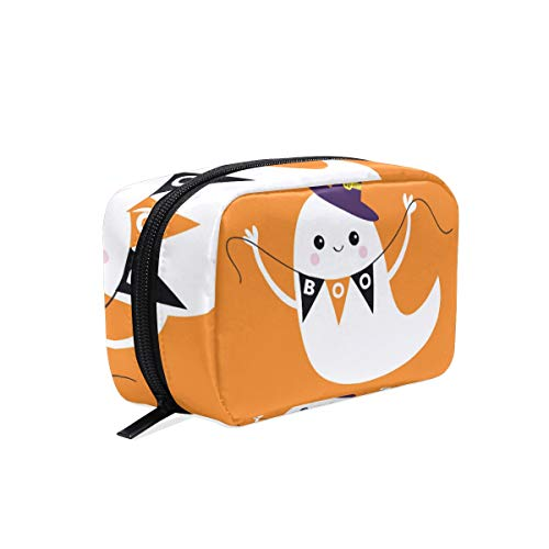 Mnsruu Makeup Bags Travel Cosmetic Bags Brush Pouch Toiletry Wash Bag for Women Girls Happy Halloween von Mnsruu