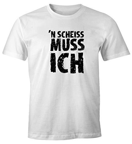 Damen T-Shirt Geiler Scheiss FunShirt Slim Fit Moonworks®