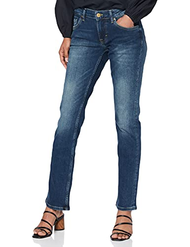MUSTANG Damen Straight Leg Jeans Sissy, Gr. W31/L36, Blau (dark scratched used 582) von Mustang