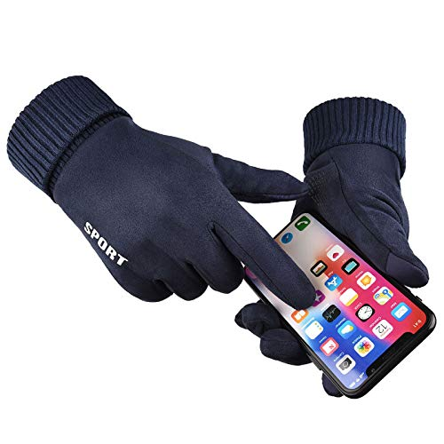 Eariy Men Winter Gloves Touchscreen Lightweight Non-Slip Cycling Gloves Elastic Winter Gloves Liner Gloves for Camping Cycling Running Climbing von N / A