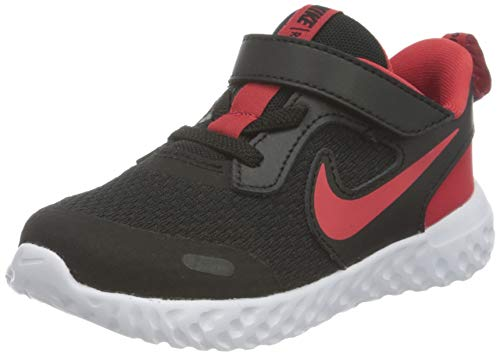 Nike Jungen Unisex Kinder Revolution 5 Running Shoe, Black/University Red-White, 23.5 EU von Nike