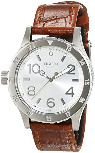 Nixon Damen-Armbanduhr 38-20 Leather Saddle Gator Analog Quarz Leder A4671888-00 von Nixon