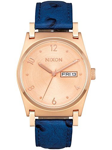 Nixon Damen Armbanduhr A955-2704-00 Jane Leather Rose Gold/Blue von Nixon