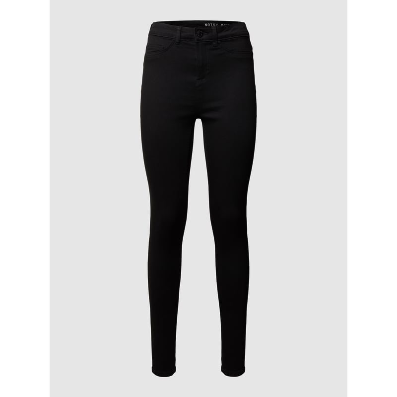 Skinny Fit Jeggings mit Label-Patch von Noisy May