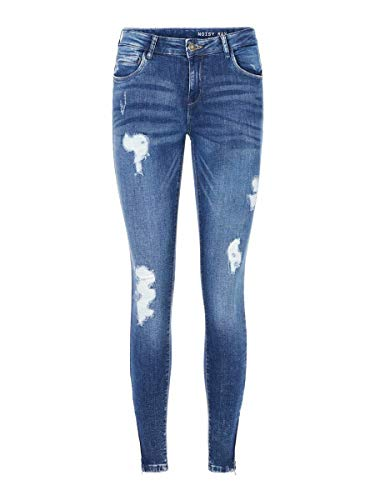 Noisy may Damen Skinny Fit Jeans NMKIMMY Cropped Normal Waist 2732Medium Blue Denim von Noisy may