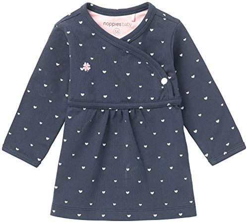 Noppies Baby-Mädchen Kleid G Dress Ls Nevada-67364, Blau (Navy C166), 50 von Noppies