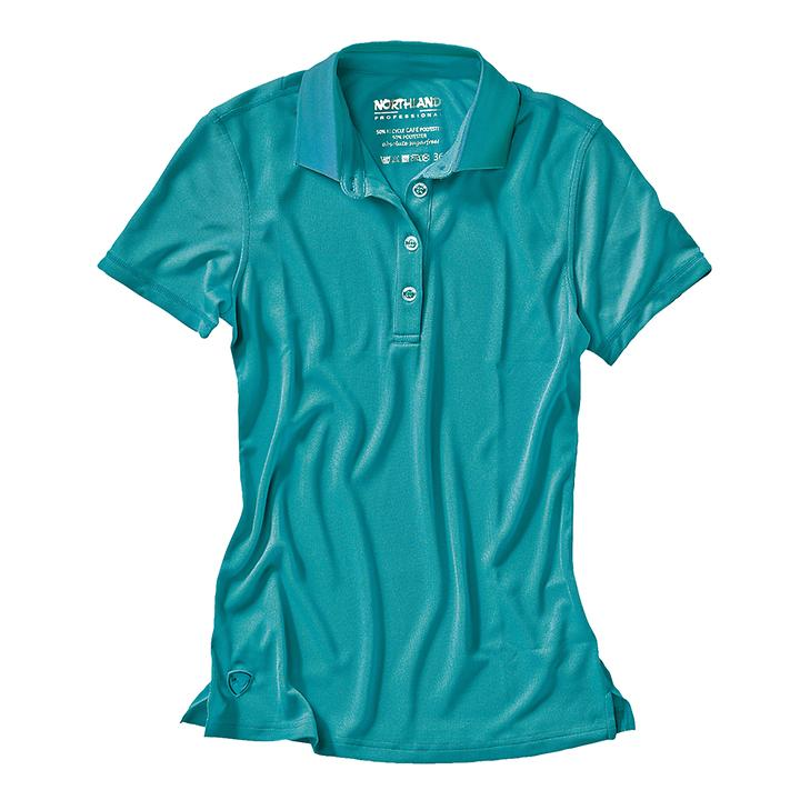 Damen-Poloshirt Cafe Base Rea Polo türkis von Northland