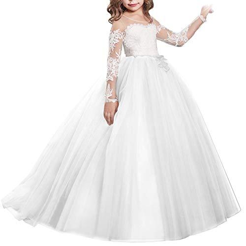Kinder Blumenmädchen Tutu Tüll Kleid Prinzessin Kleider Brautjungfer Party Prom