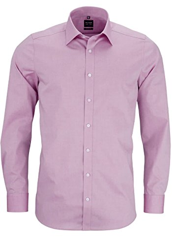 OLYMP LEVEL FIVE body fit Chambray Mens Shirt Rose 2080 64 31 -  Pink - 39 Pink - Rosé 15.5 von OLYMP