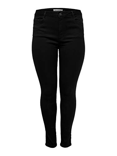 ONLY Carmakoma Female Skinny Fit Jeans Curvy Caraugusta HW 5434Black von ONLY Carmakoma