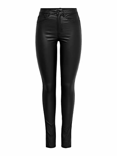 ONLY NOS Damen Skinny Jeans Onlroyal HW SK Rock Coated Pim Noos, Grau (Black), W30/L32 von ONLY NOS