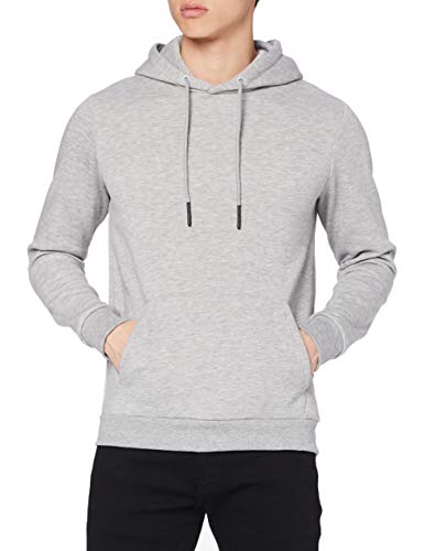 ONLY & SONS Male Hoodie Einfarbiger XLLight Grey Melange von ONLY & SONS