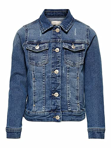 ONLY Girl Jeansjacke Dunkelblaue 116Medium Blue Denim von ONLY