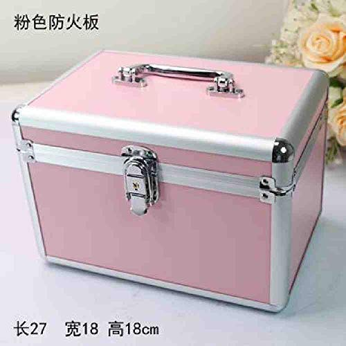 OYHBGK Schmetterling Aluminium Make-Up Fall Tragbare Reiseschmuck Cosmetic Organizer Box Mit Spiegel Schönheit Eitelkeit Pinsel Aufbewahrungstasche von OYHBGK