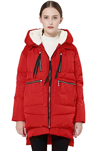 Orolay Damen Daunenmantel Mittellang Winterparka Warme Outdoorjacke von Orolay