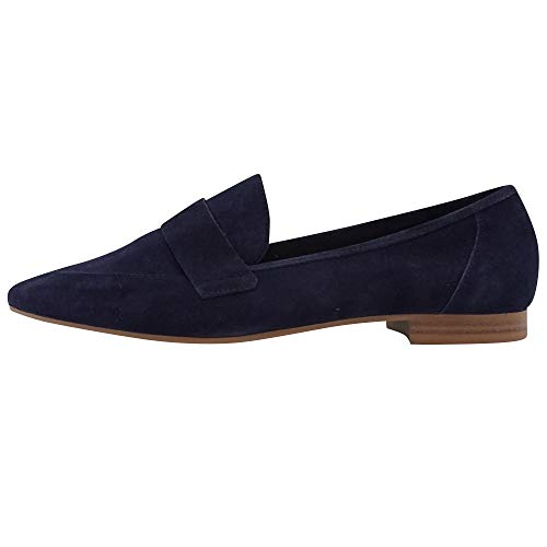 PIECES PSPALOMETA Suede Damen Slipper Loafer Dunkelblau, Größe:42 von PIECES