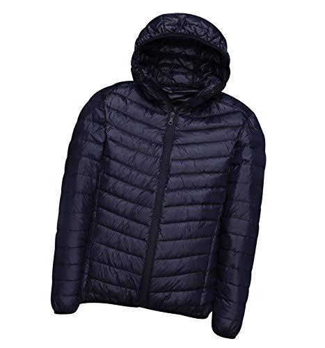 Leichte Daunenjacke Mit Kapuze Herren Daunenmantel Steppjacke Daunen Winterjacke Herren Leicht Männer Down Jacket Lightweight Daunenjacken Winterjacken Steppjacken Winter Sportliche Stylisch Marine von Pengniao