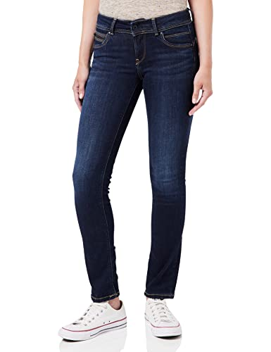 Pepe Jeans Damen New Brooke Jeans, Blau Denim (10OZ Rinse Plus), 30W / 34L von Pepe Jeans