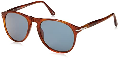 Persol Unisex Sonnenbrille PO2422SJ, Gr. Small (Herstellergröße: 51), Braun (Light Gold,Terra di Siena/Blue internal anti-glare-treatment 106156)
