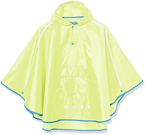 Faltbare REGENPONCHO mit Kapuze BLAU Regenjacke Regencape Regenschutz Poncho 04
