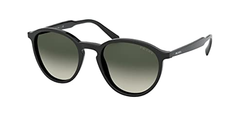 Prada Herren 0PR 05XS Sonnenbrille, Black/Light Grey Shaded, 51 von Prada