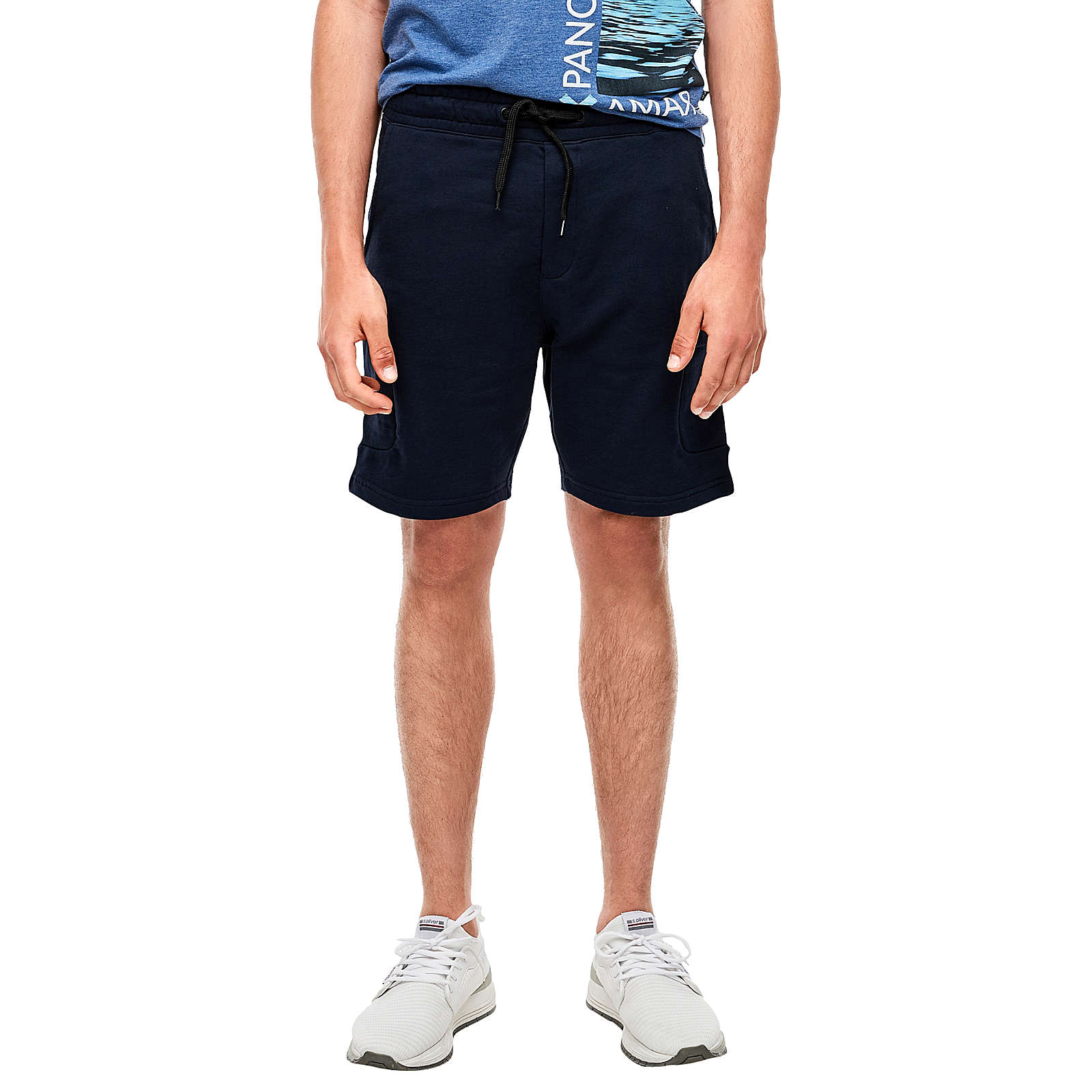 Q/S designed by Kurze Sweatpants mit Taschen Shorts blau Herren Gr. 44 von Q/S designed by