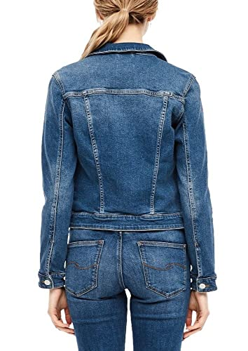 Q/S designed by - s.Oliver Damen Jeansjacke mit Wascheffekt Blue Stretched den M von Q/S designed by