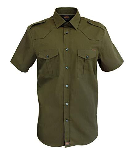 Freizeithemd Herren Flanell Hemd Kurzarm Baumwolle grau Druckknöpfe Größe S-4XL