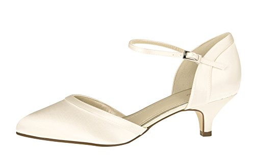 Rainbow Damen 41 Brautschuhe UK Club Ivory Brianna 8 Pumps Satin Gr EU e r1arqBx6w7