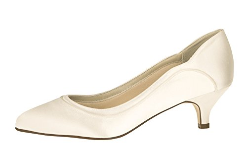 Hollie Gr Damen 39 Club 5 EU e Ivory Rainbow 6 5 UK Brautschuhe Pumps Satin ZYEwqY4px