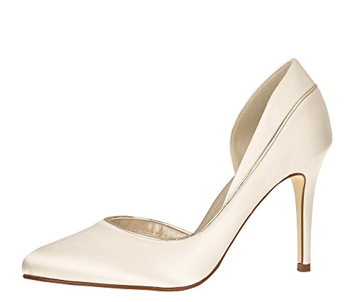Club High 35 Ivory Rainbow Gr Satin 2 Brautschuhe Pumps EU UK Heels Joanne Damen dwqYBH