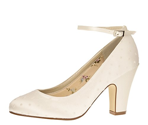 Pumps Club Blockabsatz UK Gr Ivory Polly EU Rainbow 36 Riemchen Brautschuhe 3 wpqt7cxf